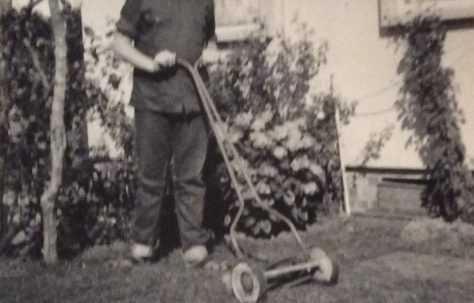 Bill (Billy) in back garden 1966-1967. Cedar Way, Acton W3