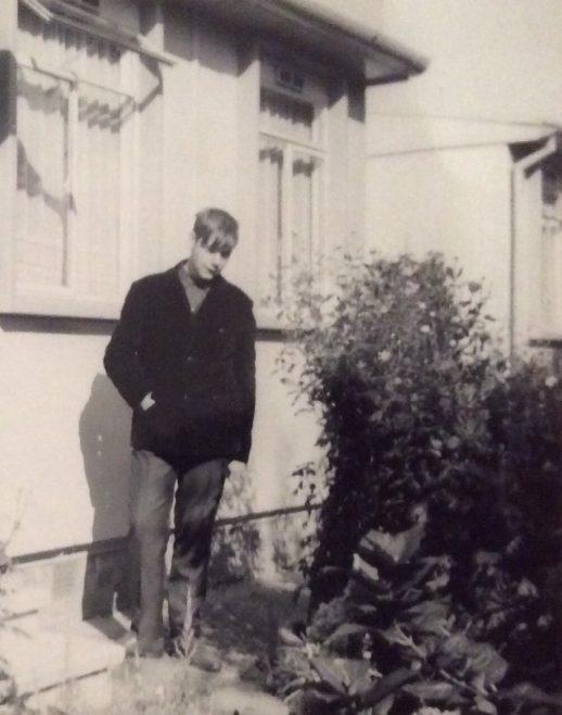 Bill (Billy) in front garden. Cedar Way, Acton W3