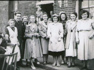 This picture depicts some of the residents of 4 streets at the 1953 Coronation Street Party. | Ray Watts