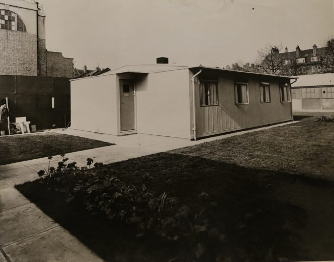 Exterior view of a Portal House, 5/9/1944