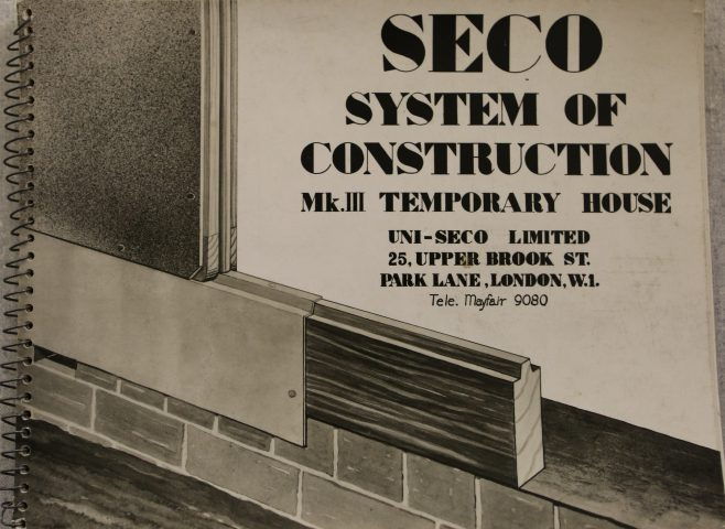 Seco System of Construction booklet cover