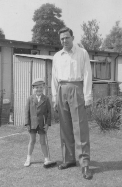 Robert Anthony Allison and my father Robert Frederick Allison. Kendal Road, London NW10