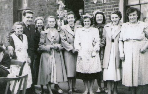 This picture depicts some of the residents of 4 streets at the 1953 Coronation Street Party.