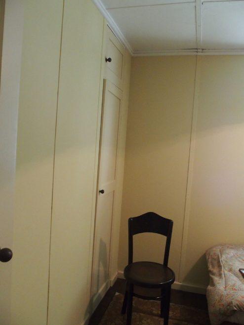 Detail, bedroom, AIROH prefab, St Fagan's Museum