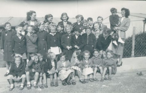 Wiston Close, group of children, Whitehawk, Brighton