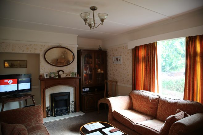 Living room, Swedish dormer bungalow, Pool-in-Wharfedale