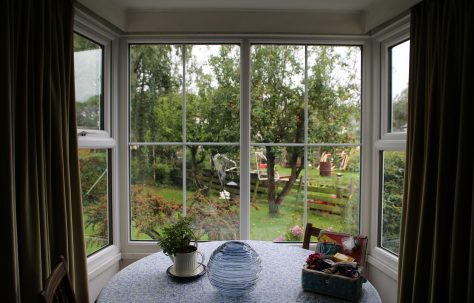 Bay window, living room, Swedish house, Pool-in-Wharfedale