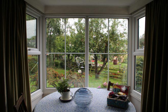 Bay window, living room, Swedish house, Pool-in-Wharfedale