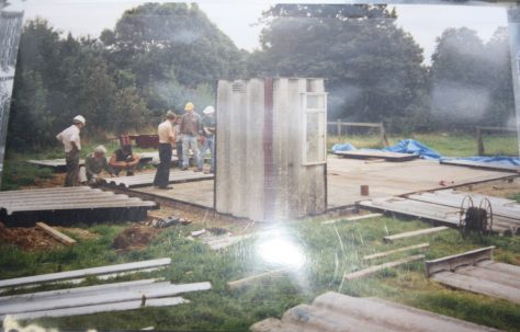 Reconstruction of the Universal prefab at Chiltern Open Air Museum