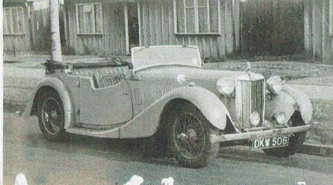 John's 1939 MG VA outside 421 Wake Green Road, Birmingham