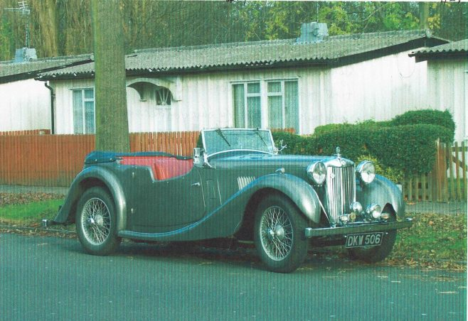John's 1939 MG VA outside 421 Wake Green Road, Birmingham