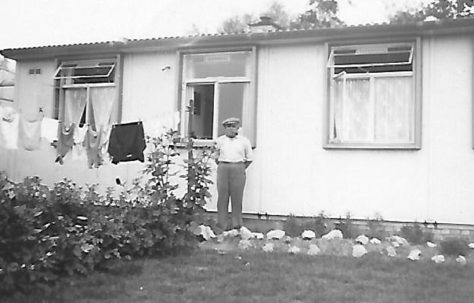 Granddad Eardley in our back garden in late 1940s. The Radleys, Sheldon