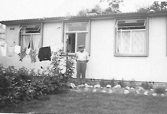 Granddad Eardley in our back garden in late 1940s. The Radleys, Sheldon