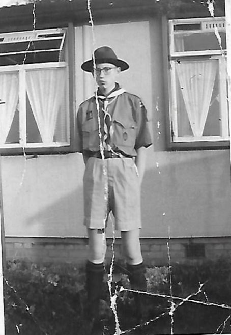 Mike in his scout uniform. The Radleys, Sheldon