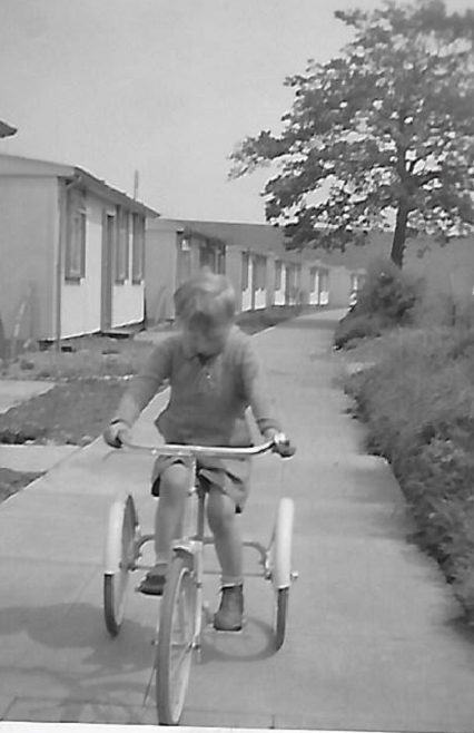 Mike on his tricycle. The Radleys, Sheldon