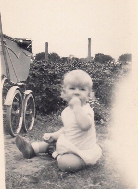 Martyn in the garden. Stapleford Road, Kings Norton