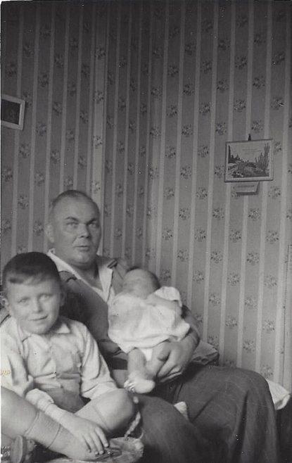 Dad, Michael and David. Beecher Drive, Halesowen