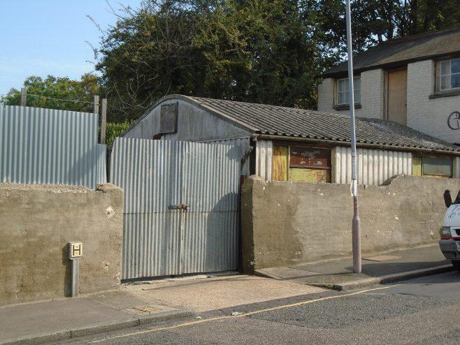 Arcon MkV reused as storage. Bramshot Avenue London SE7