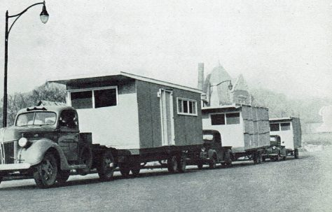 Transportation of American prefabs 1944