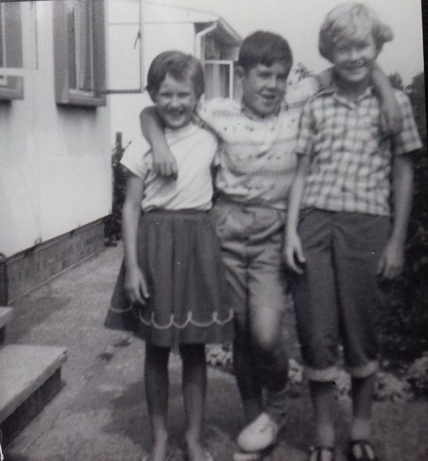 Maureen, John & Carole.  Cuddington Way, Cheam