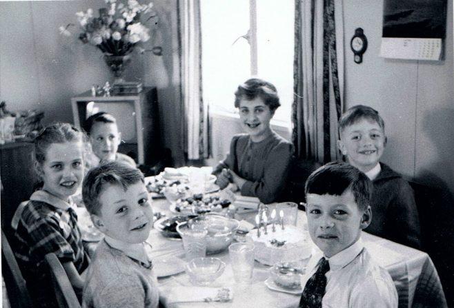 Children's birthday party in the prefab, Gatwick Green, Bishops Stortford