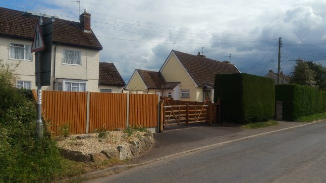 Swedish house and dormer bungalows. Oake, Devon