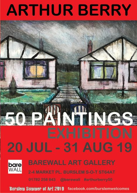 Arthur Berry 50 Paintings Exhibition 20 July to 31 Aug 2019 featuring Prefab Houses by Arthur Berry 1971