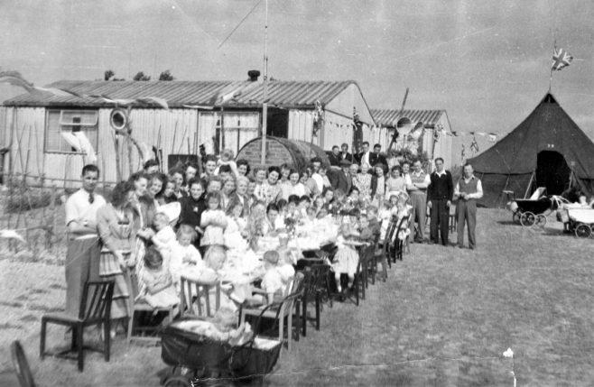 Coronation party, Dynes Road, Kemsing, Kent