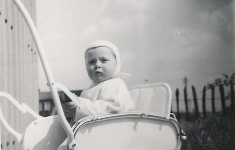 Graham in his pushchair, 849 Ripple Road
