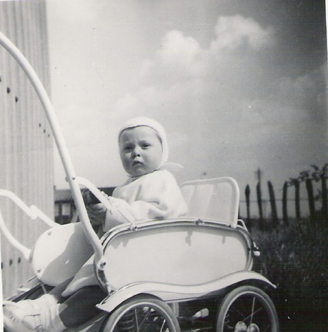 Graham in his pushchair, 849 Ripple Road