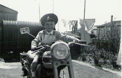 Graham on a motorbike, 849 Ripple Road