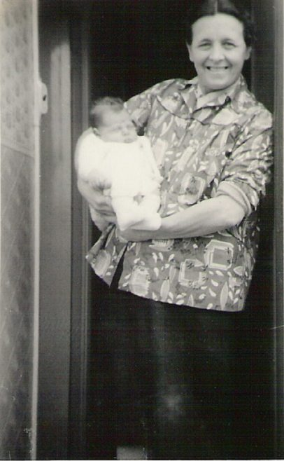 Graham as a baby with his mum, 849 Ripple Road