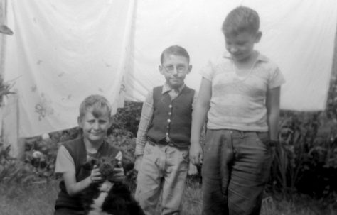 John with Bonzo the dog, Roy Powell and Pat Larkin who also lived in Reaston Street. London SE14