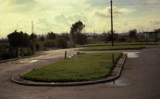 Montgomery Gardens during clearance in 1975