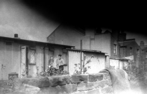 Lawrence Collins in his back garden in Avonley Rd. London SE14