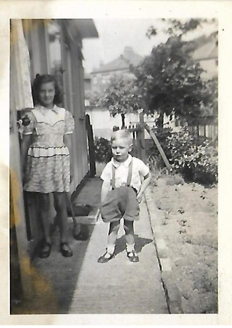 JOHN & JOSIE BUGG AT No86 CARLETON ROAD EXACTLY OPPOSITE OUR PREFAB 1950