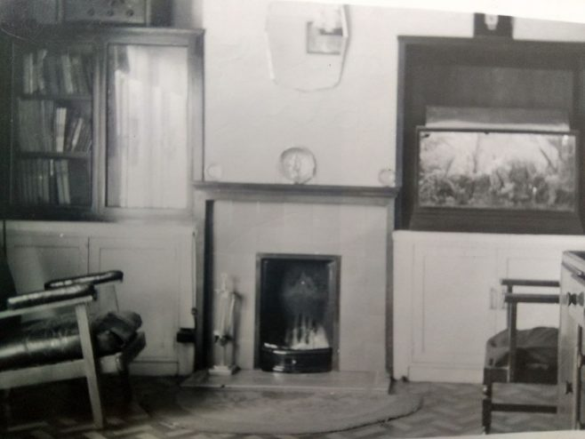 Interior, living room. Swallow Street, Iver Heath, Buckinghamshire