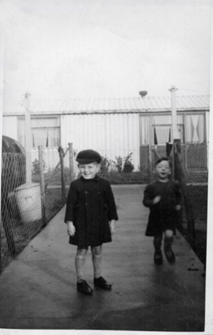 Manford Green 1950 Robert and his pal. No 19 on the right. | Robert Bourke