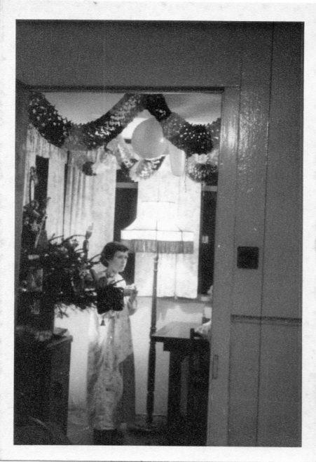 Christine Flanders. Interior of 7 Hind Grove, Poplar, London E14 Christmas 1957 | Robert Flanders