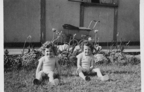 Pauline and Christine Flanders 7 Hind Grove, Poplar, E14. c.1950