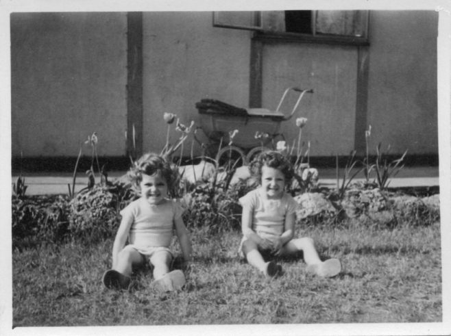 Pauline and Christine Flanders 7 Hind Grove, Poplar, E.14. c.1950 | Robert Flanders