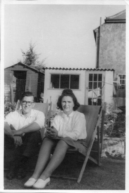 Robert and Annie Flanders. 7 Hind Grove, Poplar, E.14. late 1940s. | Robert Flanders