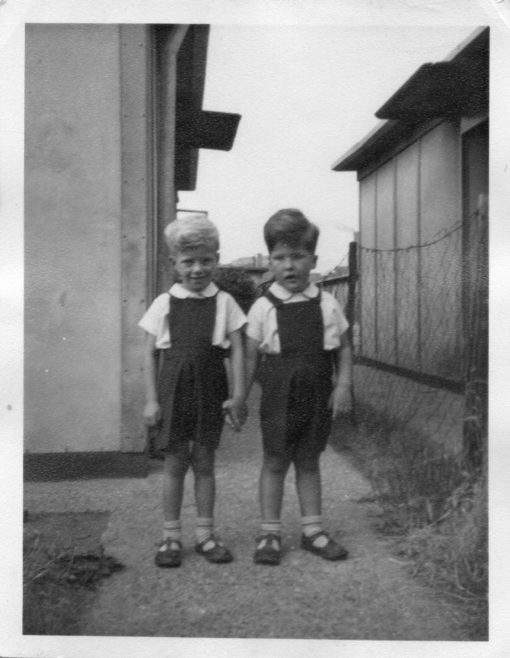 Twins Robert and David Flanders. 7 Hind Grove, Poplar, E.14. 1954 | Robert Flanders