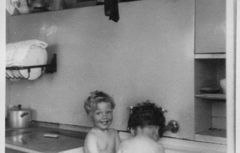Twins, Robert and David Flanders 7 Hind Grove, Poplar. London E14 1953