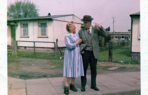 Nan, Rose Edwards and Grandad, Frank Tucker. 31 St. Peter's Road, Chadwell St. Mary, Essex. Late '50s - early '60s.