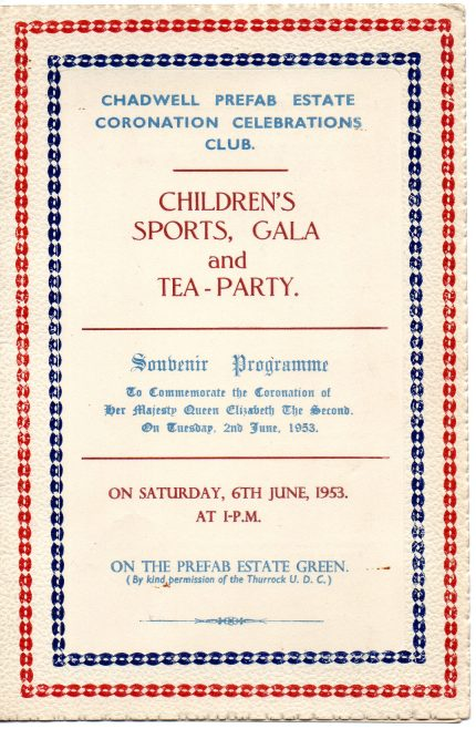 Souvenir Programme, Coronation Party at the Prefabs, 6 June 1953 | Susie Flanders