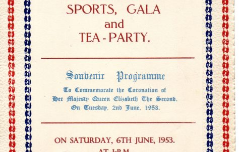 Souvenir Programme, Coronation Party at the Prefabs, 6 June 1953