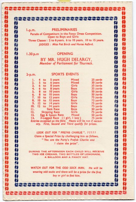 Souvenir Programme, Coronation Party at the Prefabs, 6 June 1953 | Susie Flanders