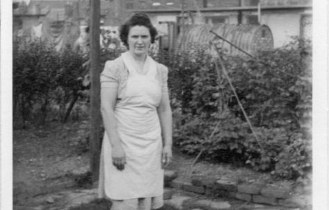 Annie Flanders. 7 Hind Grove, Poplar, E.14. c.1952