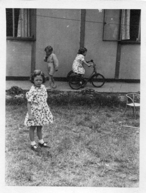 Christine and Pauline Flanders. 7 Hind Grove, Poplar, E.14. c.1951 | Robert Flanders